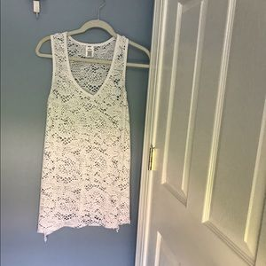 White Swim Suit Coverup New no Tags Size Small